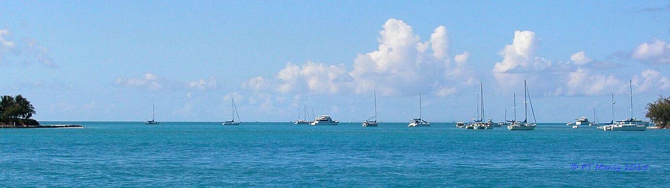 Hawk Channel, Florida Keys, Sunset Key, Wisteria Island off Key West Bight